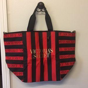 New Victoria Secret Red/Black Weekender Tote